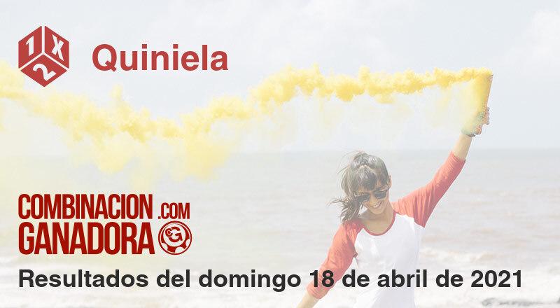 Quiniela del domingo 18 de abril de 2021