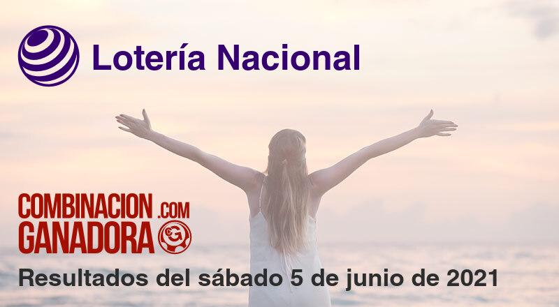 Lotería Nacional del sábado 5 de junio de 2021