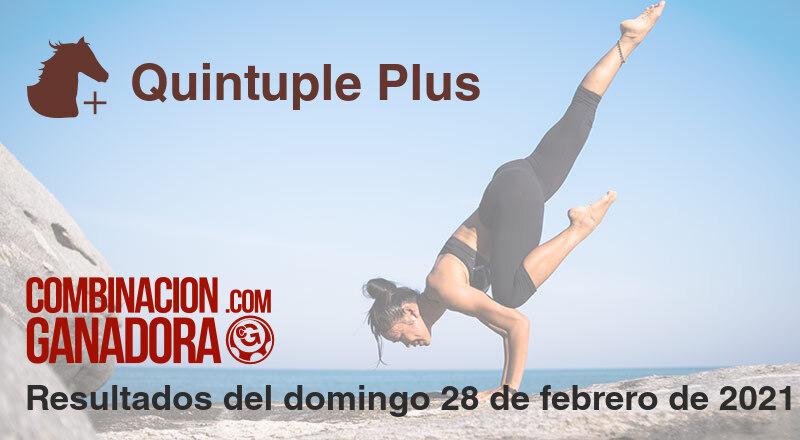 Quintuple Plus del domingo 28 de febrero de 2021