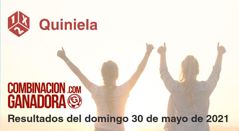 Quiniela del domingo 30 de mayo de 2021