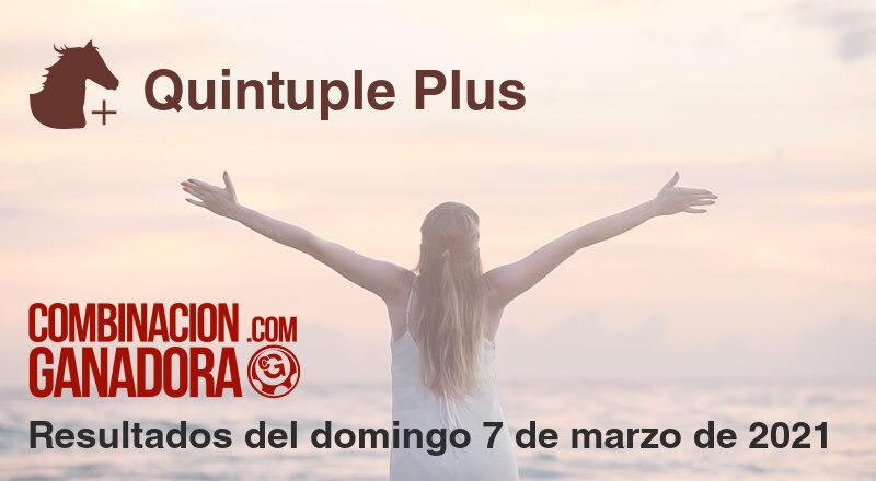 Quintuple Plus del domingo 7 de marzo de 2021