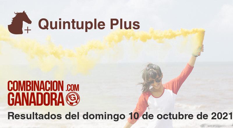Quintuple Plus del domingo 10 de octubre de 2021