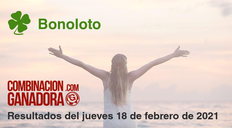 Bonoloto del jueves 18 de febrero de 2021