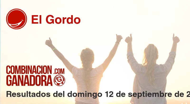 El Gordo del domingo 12 de septiembre de 2021