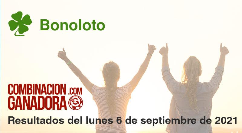 Bonoloto del lunes 6 de septiembre de 2021