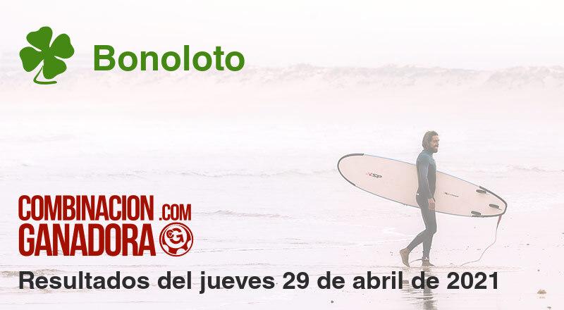 Bonoloto del jueves 29 de abril de 2021