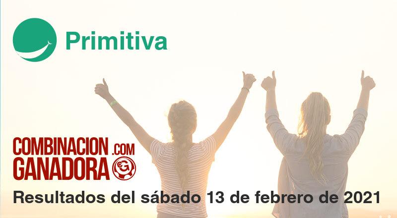 Primitiva del sábado 13 de febrero de 2021