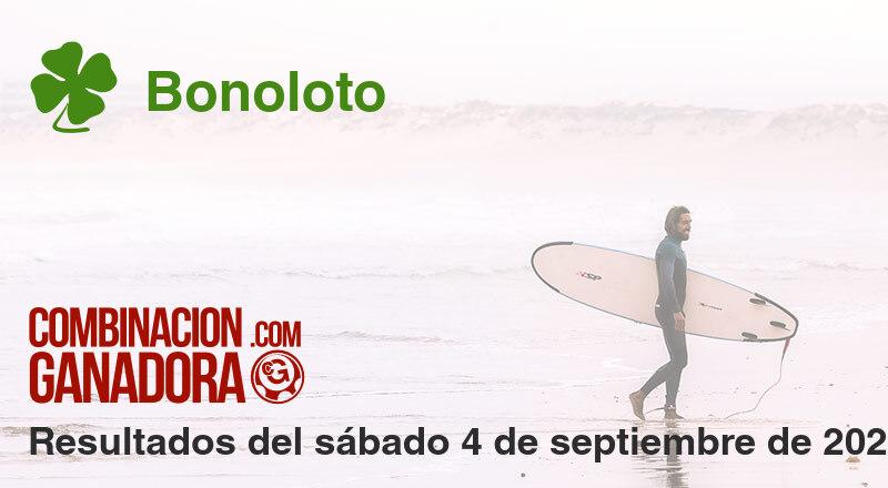 Bonoloto del sábado 4 de septiembre de 2021
