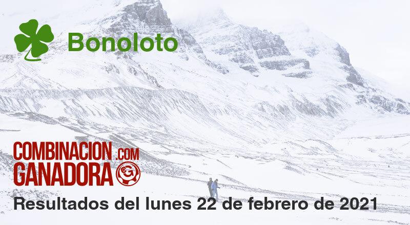 Bonoloto del lunes 22 de febrero de 2021