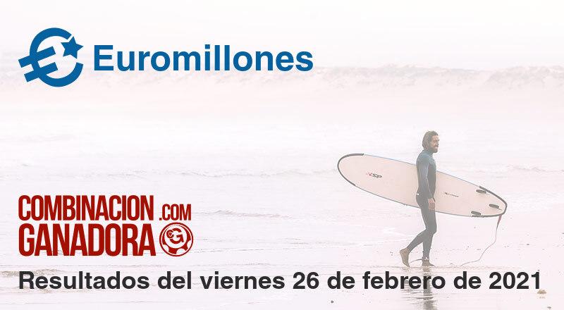 Euromillones del viernes 26 de febrero de 2021