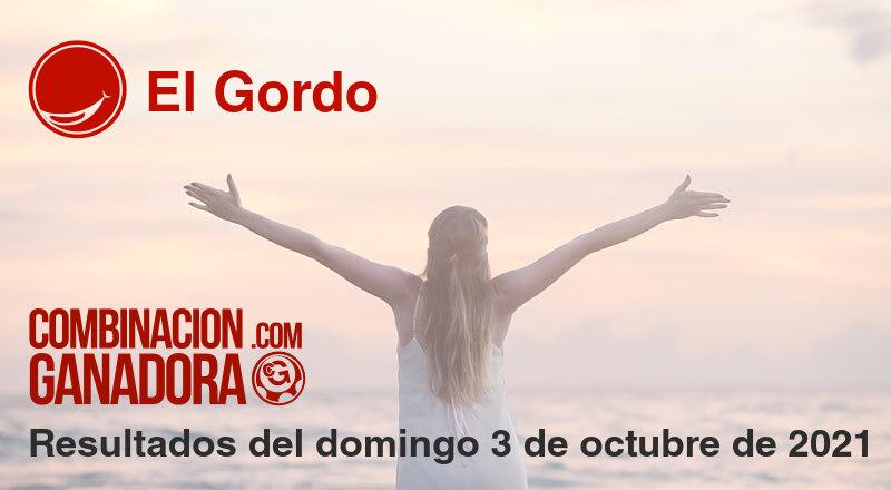 El Gordo del domingo 3 de octubre de 2021