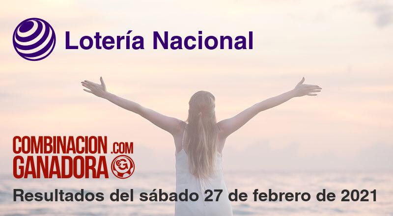 Lotería Nacional del sábado 27 de febrero de 2021
