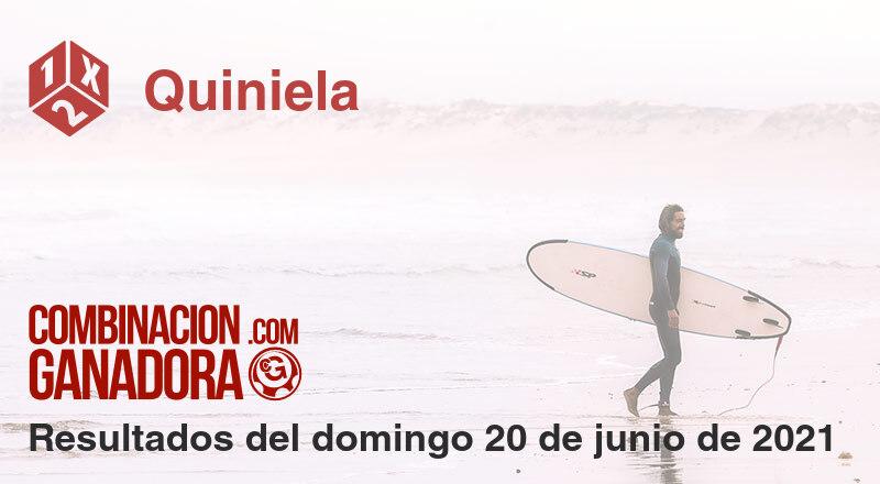 Quiniela del domingo 20 de junio de 2021