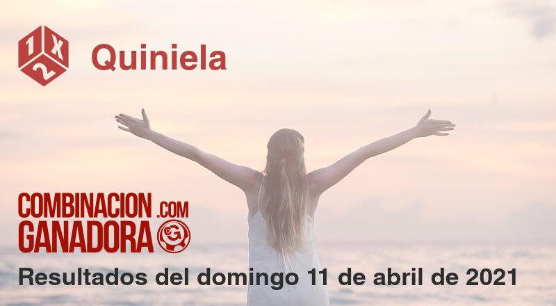 Quiniela del domingo 11 de abril de 2021