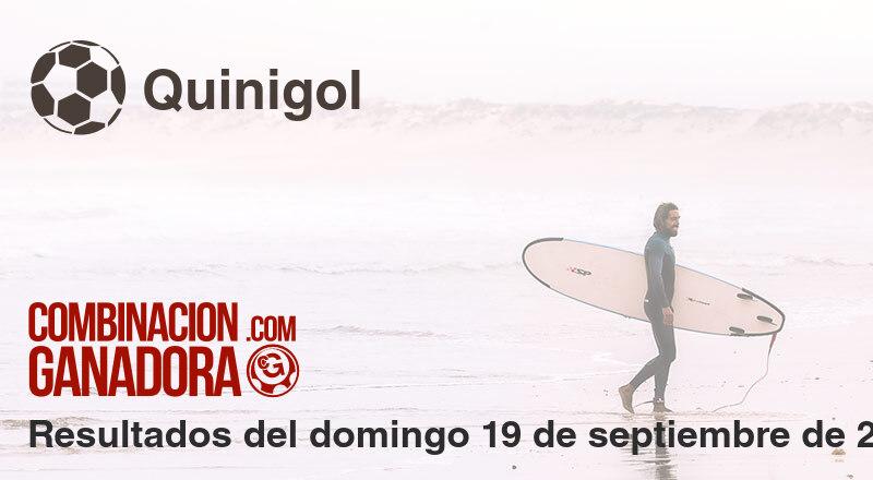 Quinigol del domingo 19 de septiembre de 2021