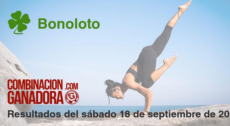 Bonoloto del sábado 18 de septiembre de 2021