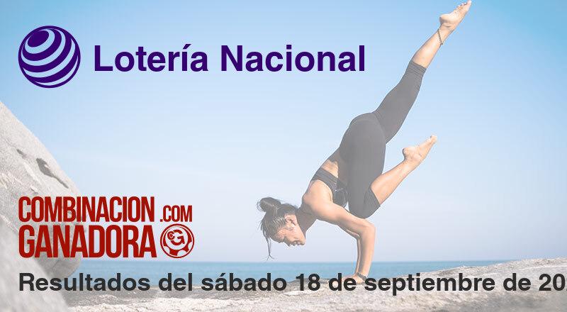Lotería Nacional del sábado 18 de septiembre de 2021