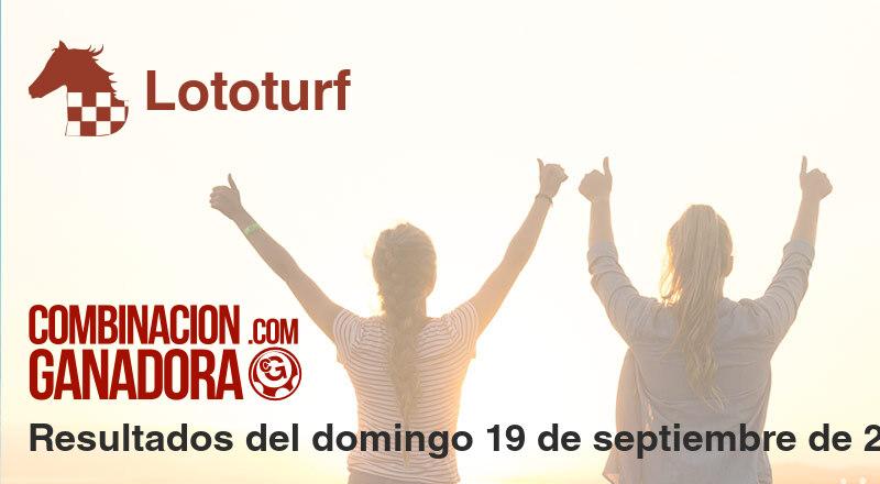 Lototurf del domingo 19 de septiembre de 2021