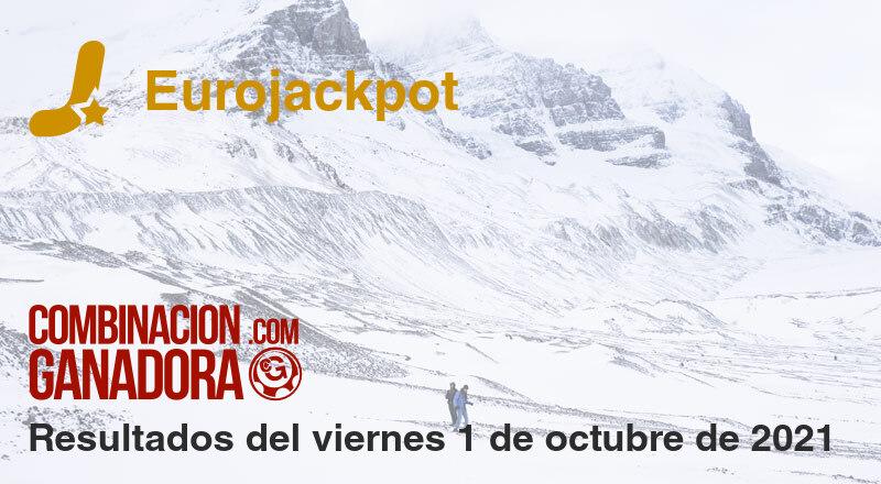 Eurojackpot del viernes 1 de octubre de 2021