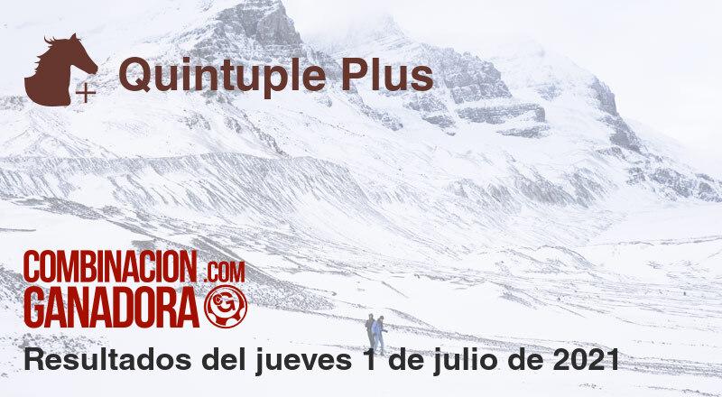 Quintuple Plus del jueves 1 de julio de 2021