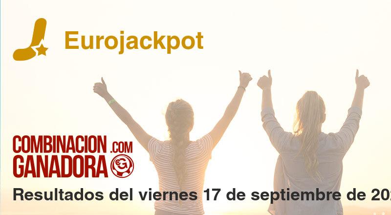 Eurojackpot del viernes 17 de septiembre de 2021