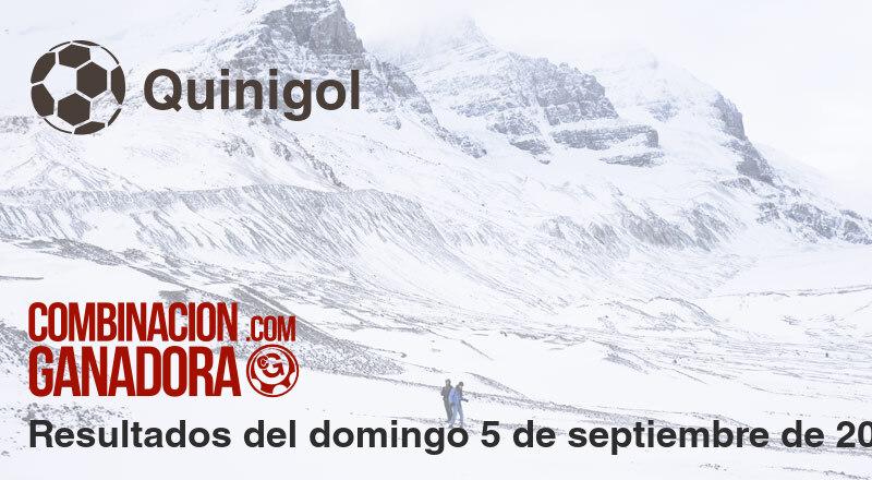 Quinigol del domingo 5 de septiembre de 2021