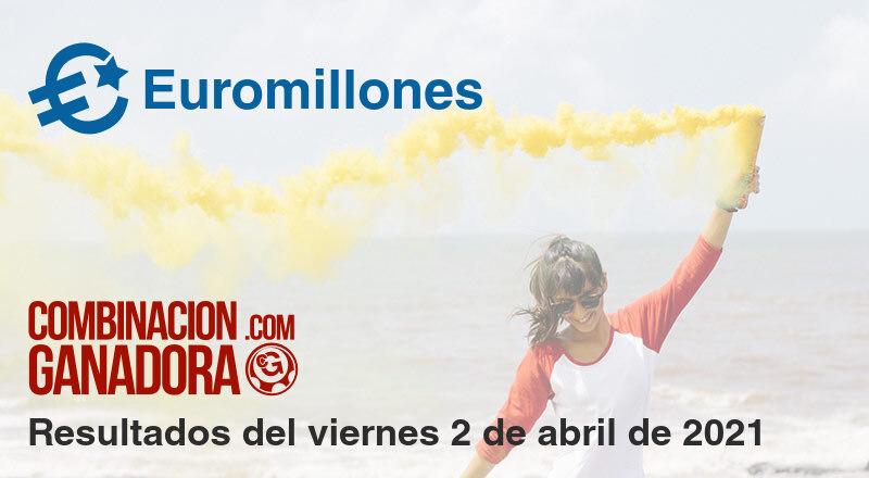 Euromillones del viernes 2 de abril de 2021
