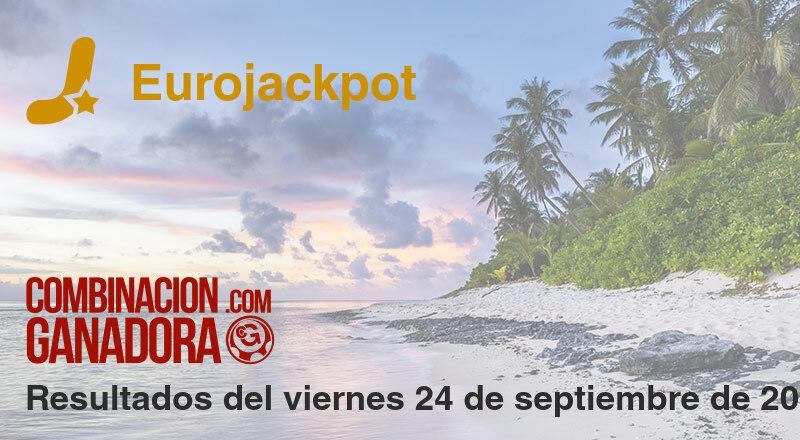 Eurojackpot del viernes 24 de septiembre de 2021