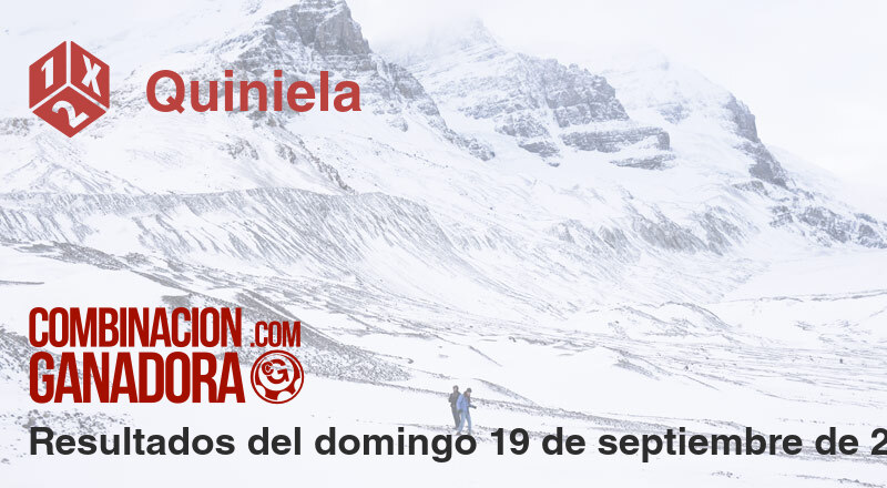 Quiniela del domingo 19 de septiembre de 2021