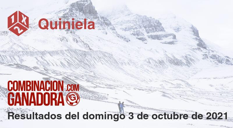 Quiniela del domingo 3 de octubre de 2021