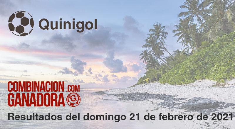 Quinigol del domingo 21 de febrero de 2021
