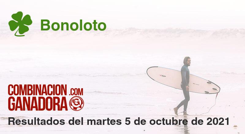 Bonoloto del martes 5 de octubre de 2021