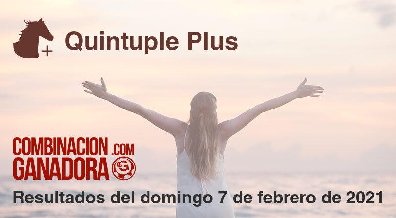 Quintuple Plus del domingo 7 de febrero de 2021