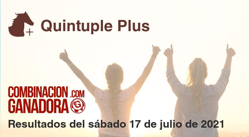 Quintuple Plus del sábado 17 de julio de 2021
