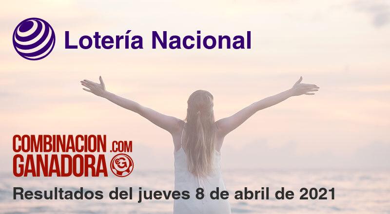 Lotería Nacional del jueves 8 de abril de 2021