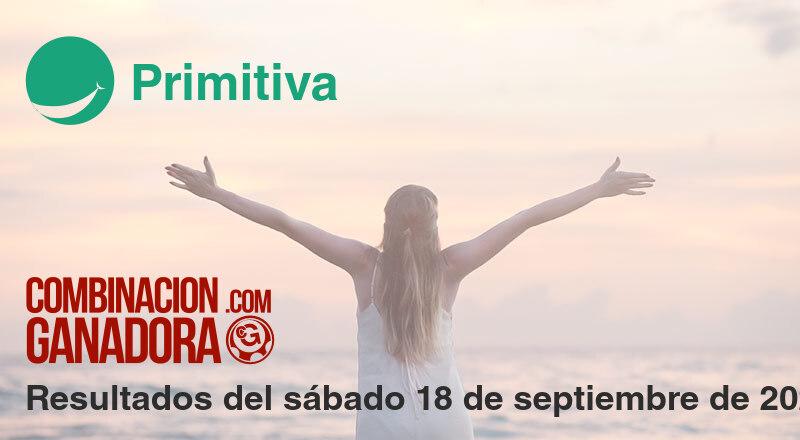 Primitiva del sábado 18 de septiembre de 2021