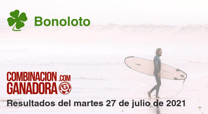 Bonoloto del martes 27 de julio de 2021