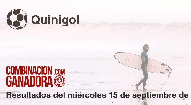 Quinigol del miércoles 15 de septiembre de 2021