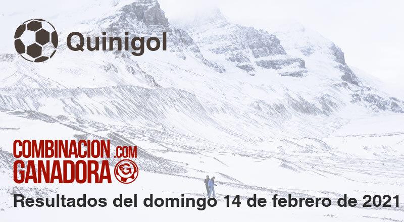 Quinigol del domingo 14 de febrero de 2021