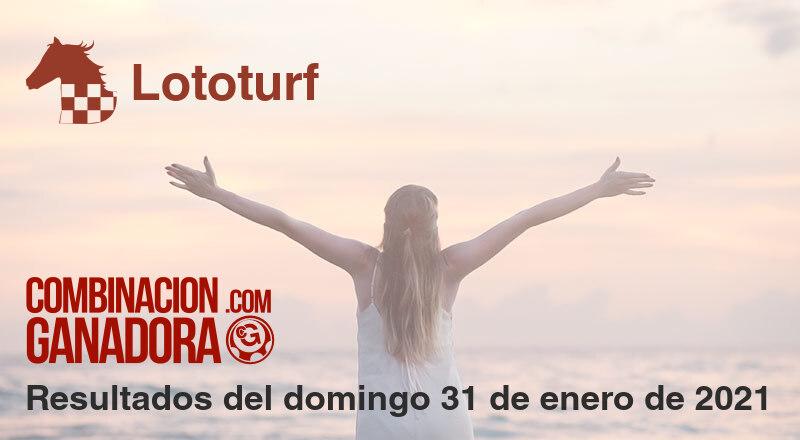 Lototurf del domingo 31 de enero de 2021