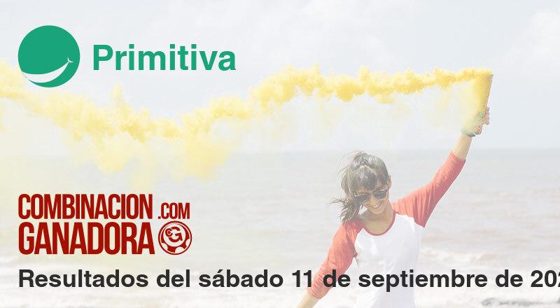 Primitiva del sábado 11 de septiembre de 2021