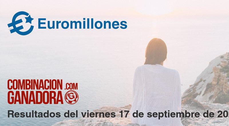 Euromillones del viernes 17 de septiembre de 2021