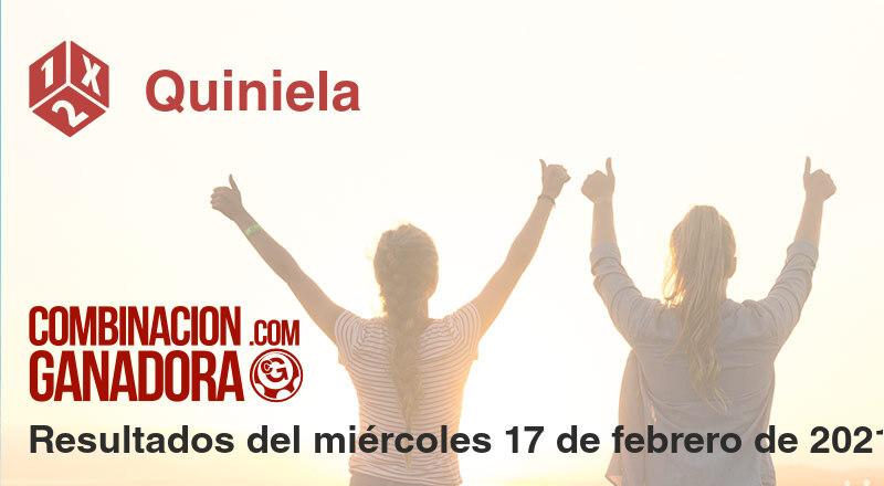 Quiniela del miércoles 17 de febrero de 2021