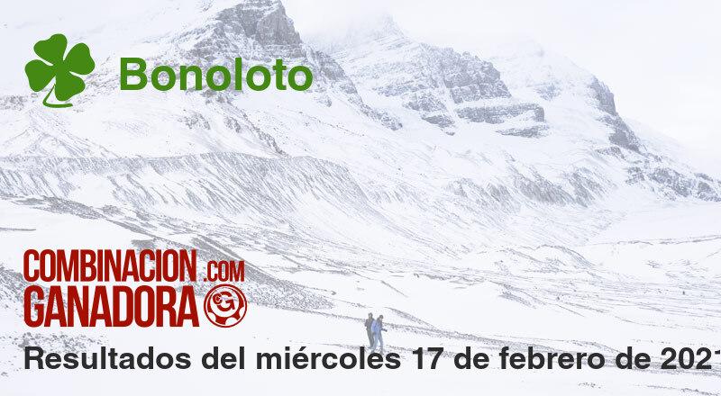 Bonoloto del miércoles 17 de febrero de 2021