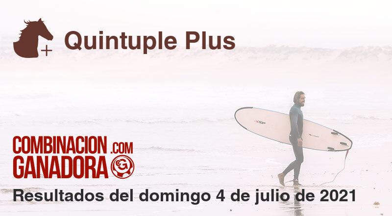 Quintuple Plus del domingo 4 de julio de 2021