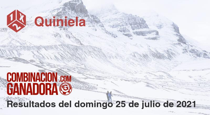 Quiniela del domingo 25 de julio de 2021