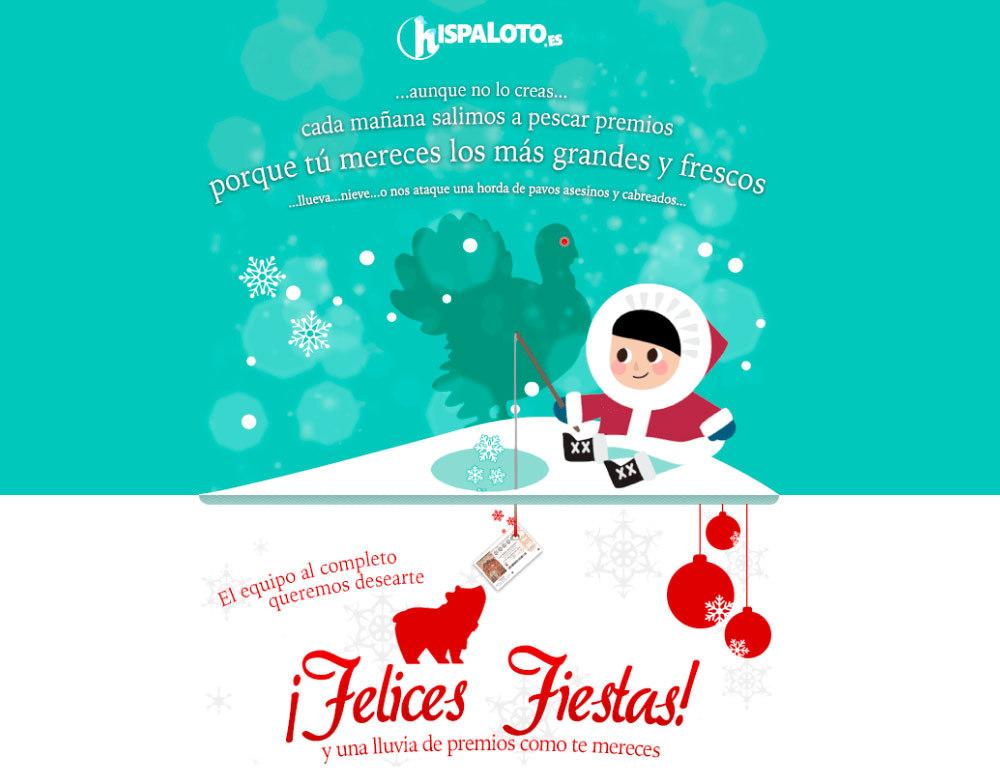 Felicitación navideña de Hispaloto, ¡pesca un Gordo!