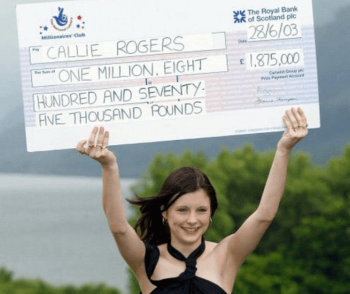 Una de las ganadoras de lotería más jóvenes