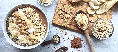 Desayunos. Smoothie de cacao y plátano