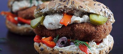 Hamburguesa vegetariana de zanahoria y patata